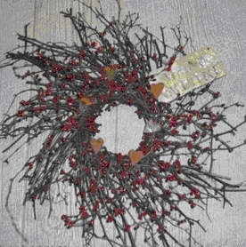 Hearts and Berries Wreath