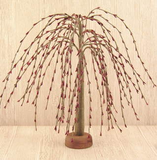 Burgundy 7 inch and 14 inch Willow Trees
