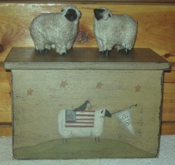 Toaster Cover/Cupboard, 2 Slice, Handpainted w/Sheep/1818 design