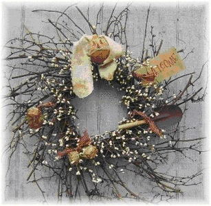 Twiggy Prim Beatrice Bunny Wreath