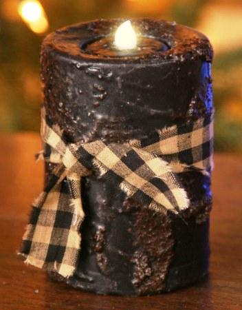 Primitive Flicker Candle - Black, Unscented