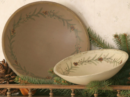 Holly Berry Collection - Wooden Bowls