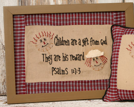 "Stitchery - ""Children Are a Gift From God..."" , Frame - NEW"
