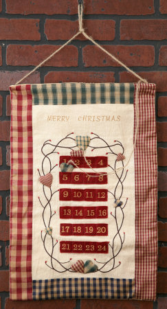 Stitchery - Christmas Countdown, Wall Hanging