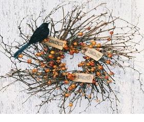Crow Caw Wreath