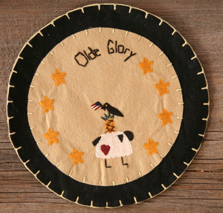 "Candle Mat - ""Olde Glory"""