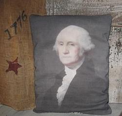 Primitive Pillow - George Washington