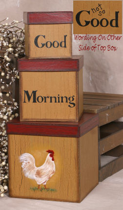 Nesting Boxes - Good Morning, Rooster, Not So-Good, Morning, Rooster, Not So,nesting boxes, shaker boxes