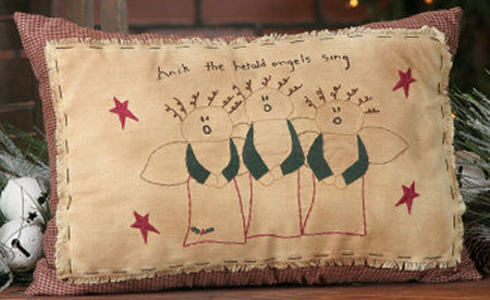 "Stitchery - ""Hark the Herald Angels Sing"" - Pillow"