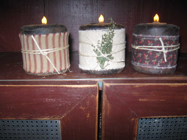 Flicker Cupboard Battery Candles - Scented