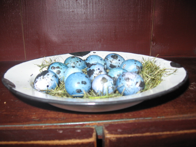 Quail Eggs - Deep Blue