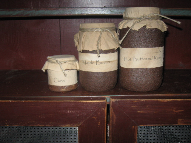 Primitive Grungy Soy Jar Candles