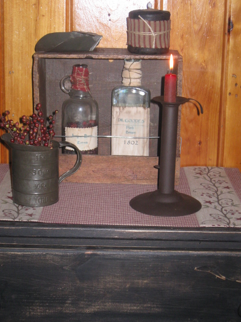 Hogscraper Candle Holder, Adjustable