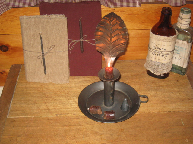 Colonial Feather Candle Lamp w/Snuffer