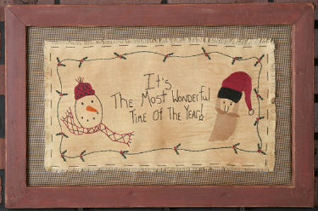 "Stitchery, ""It's the Most Wonderful Time of the Year"" - Frame"