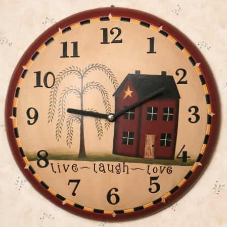 Live, Laugh, Love Collection - Wall Clock, Wood