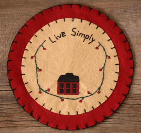 "Candle Mat - ""Live Simply"""
