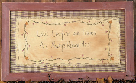 "Stitchery - ""Love, Laughter and Friends"" - Frame"