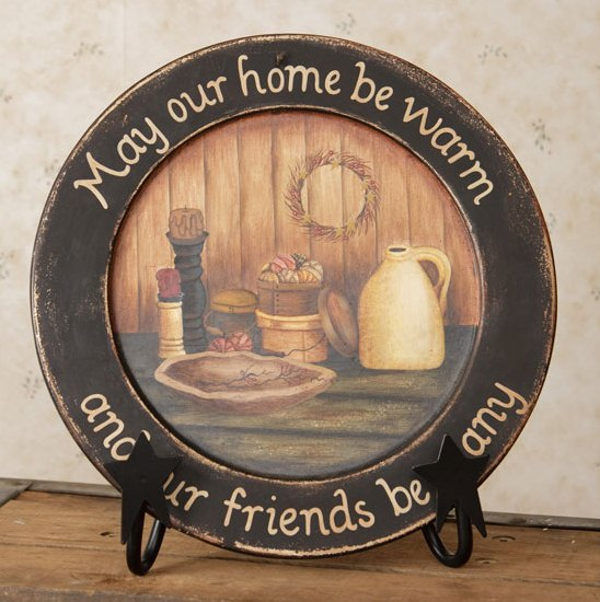 """May Our Home"" . . . Wooden Plate"