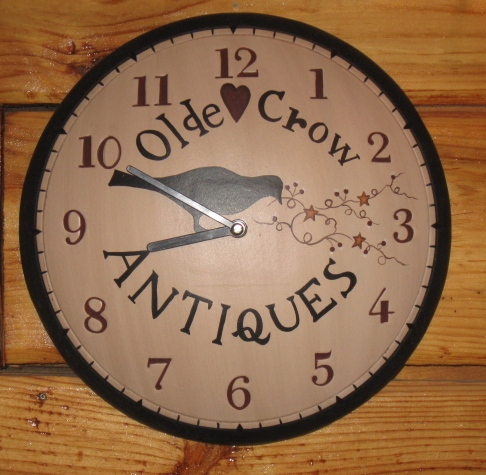 Olde Crow Antiques Wall Clock, Wood