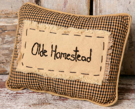 "Stitchery - ""Olde Homestead"" - Pillow"