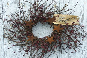 Pip and Stars Wreath-wreath, pip berry wreath, star wreath