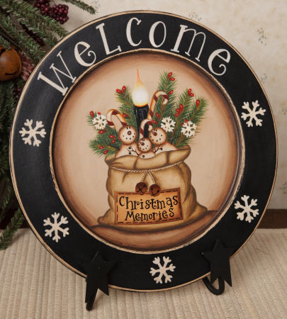 Christmas Memories, Wooden Plate