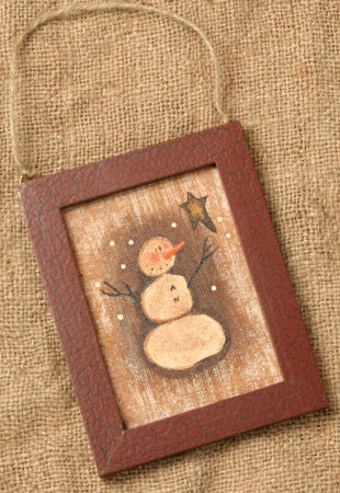 Primitive Snowman Collection - Painted Frame