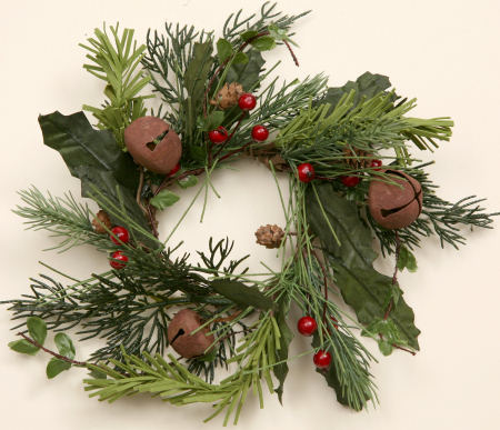Winter Greens - Rusty Bells, Wreath-wreaths, rusty bells, winter,