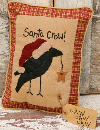 Stitchery - Santa Crow, Pillow