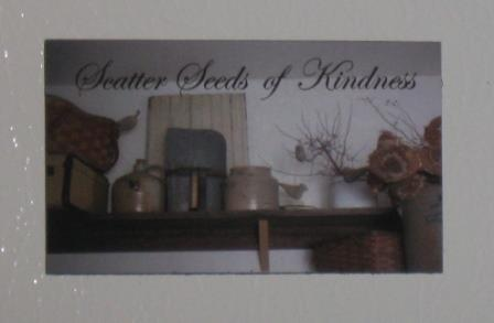 "Small Primitive Magnet , ""Scatter Seeds of Kindness"" - NEW"