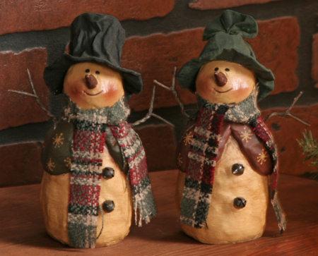 Snowman - Couple, Resin-snowmen, resin,