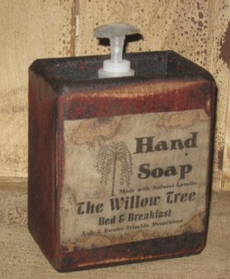 "Large Soap Box - ""Bed & Breakfast""-soap boxes, wood soap holders, bathroom decor, primitive, vintage labels, antique labels, bed and breakfast,"