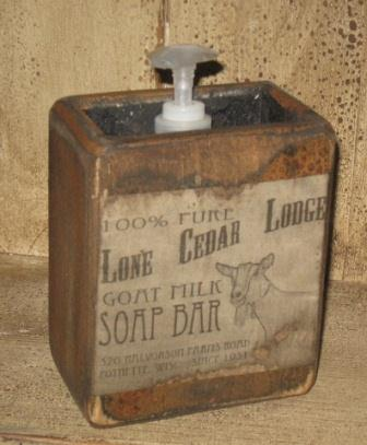 "Large Soap Box - ""Goat Milk Soap Bar""-soap boxes, wooden soap holders, primitive, vintage labels, olde labels, bathroom decor,"