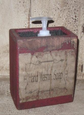 "Large Soap Box - ""Hand Wash n' Soap""-soap box, bathroom decor, primitive, vintage labels,"