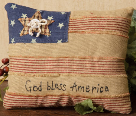 "Stitchery - ""God Bless America"", Pillow"