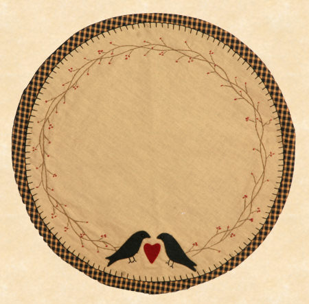 "Table Mat - ""Loving Crows"", Round"