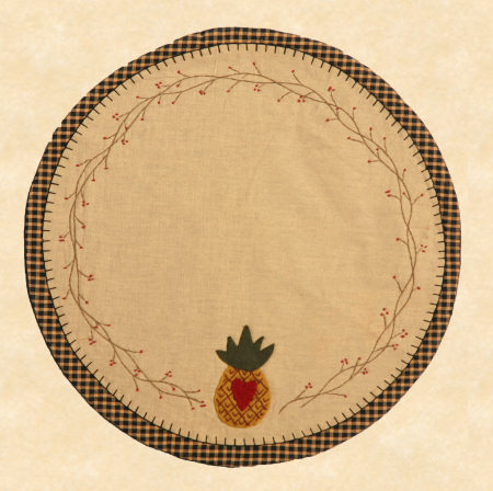 "Table Mat -""Pineapple"", Round"