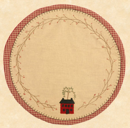 "Table Mat - ""Primitive Home"", Round"