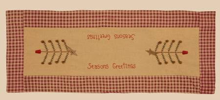"Table Runner - ""Seasons Greetings"" -  NEW"