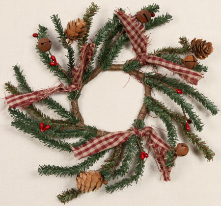 Winter Greens - Bells, Cones, Bows, Berries, Wreath  -  NEW-wreaths, winter, Christmas, bells, cones, bows, berries,