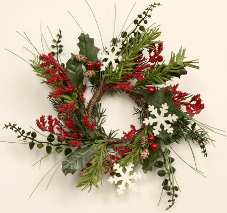 Winter Greens - Snowflakes, Wreath -  NEW-wreaths, winter, snowflakes,