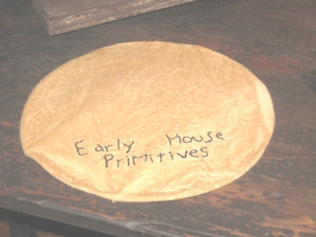 "Aged Medium Round Candle Mat - ""Early House Primitives"", 10"" Dia."