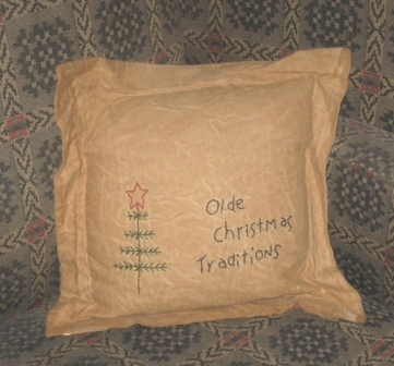 "Aged Stitchery, Pillow - ""Olde Christmas Traditions"""