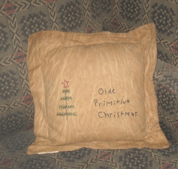 "Aged Stitchery, Pillow - ""Olde Primitive Christmas"""