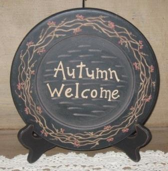 """Autumn Welcome"" Wood Plate"
