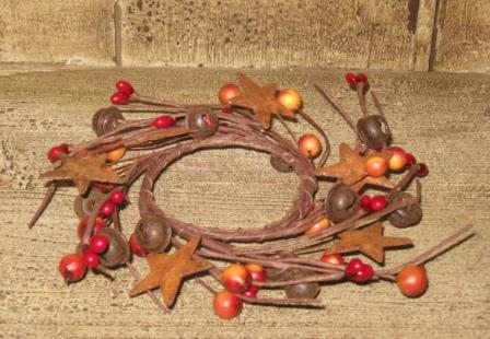 Berries, Rusty Stars &  Bells, Twig Wreath