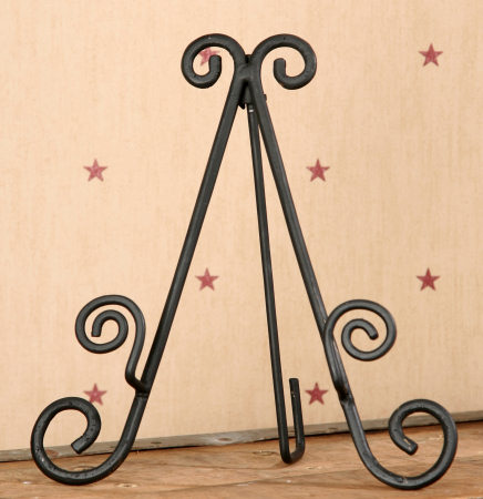 Scrolled Iron Foldable Frame/Plate Holder