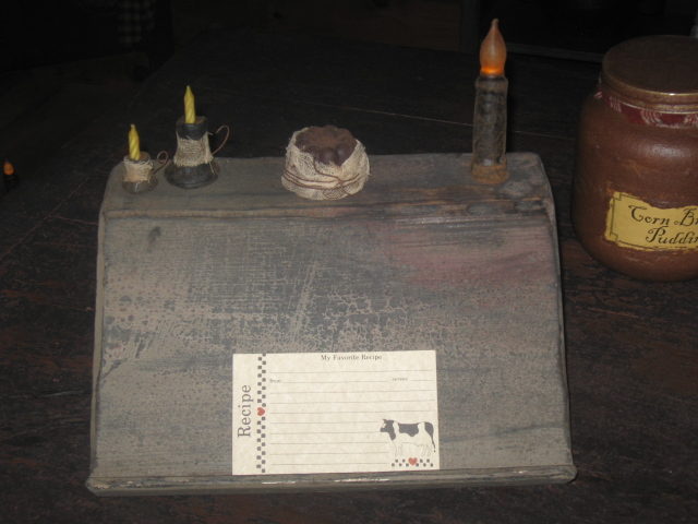 Book/Recipe Card Candle Holder, Cobblestone