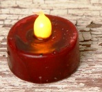 Primitive Flicker Tealights - Burgundy